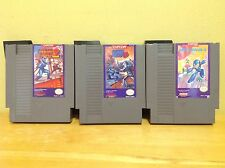 Nintendo NES - Mega Man 2, 3 & 4 w/ Official Sleeves - 7F