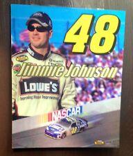"Jimmie Johnson #48 NASCAR Lowe's Chevy Car 3-D Motion Poster Heavy Vinyl 20""x16"""