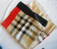 Pure 100% Silk beautiful scarf  check-tan,black ,white,brown    SALE!