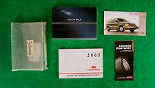 2004 04 Kia Sedona Owners Manual Near New J1