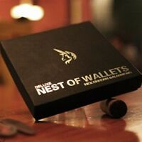 DELUXE NEST OF / NESTING WALLETS & WITH DVD MAGIC TRICK USA SELLER FREE SHIPPING