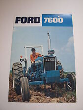 Ford 7600 Tractor Color Brochure 12 pg. original vintage '75 MINT