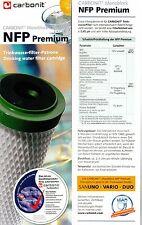 3X NFP Premium Cartucho de Filtro Agua para Escritorio + Vario Von Carbonit
