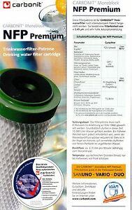 CARBONIT® NFP Premium Wasserfilterpatrone für Sanuno Vario Duo Quattro original
