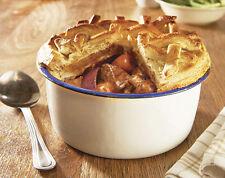 Extra Deep Enamel Baking Pie Dish Tin Bowl Kitchen Bakeware Cookware Pudding