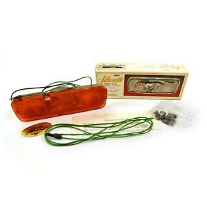 1965 1966 1967 MUSTANG LIGHTED GRILL PONY INSERT AMBER LENS SILHOUETTE NOS