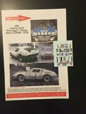 Calcomanías 1/43 Renault Alpine A310 Manzagol Tour de Corse 1976 Rallye WRC