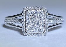 Wedding Ring Size 8 Appraisal $1050 10k Whote Gold .48Ct Diamond Engagement