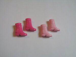 Mattel Barbie 2 Pair Vintage Style Hiking Casual Boots Pinks EUC