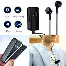 Clip-On Wireless Bluetooth Stereo In Ear Earphone Phone Headset Music Headphones