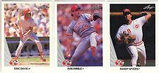 12 1990 LEAF BASEBALL CINCINNATI REDS CARDS (E DAVIS/DIBBLE/MYERS+++)
