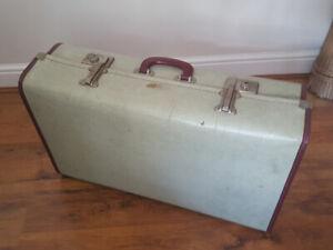 Vintage mock Snakeskin Luggage Suitcase Hard shell Case