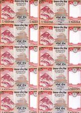 LOT Nepal, 10 x 5 Rupees, 2017, P-New, UNC > Everest, Yak