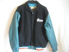 VINTAGE Jeff Hamilton Miami Dolphins Leather Varsity Letterman NFL Jacket Medium