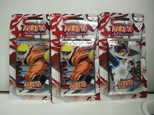 """3 Pack Naruto CCG """" The Chosen """" Sealed Booster Pack"""