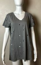 Ann Demeulemeester T Shirt 100% COTTON Gray SIZE L CASUAL DONNA MADE IN PORTUGAL