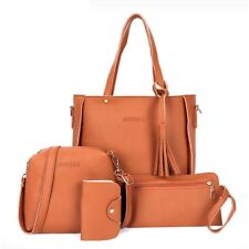 4 Pack Women Leather Handbag Lady Shoulder Bags Tote Purse Messenger Satchel Set