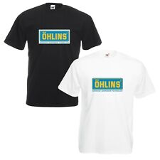 Ohlins T-Shirt Suspension Shocks Motorcycle Enthusiast VARIOUS SIZES & COLOURS