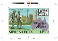 1987 Sierra Leone Boy Scouts Australia - Proof MNH - Sydney Tower and Skylines