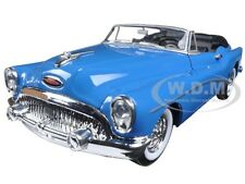 1953 BUICK SKYLARK CONVERTIBLE BLUE 1/24 DIECAST CAR MODEL BY WELLY 24027