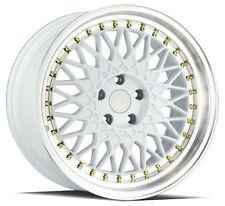 Aodhan Ah05 18X9.5 5X114.3 +35 White Rims Accord Civic RSX TSX TL TLX ILX CRZ