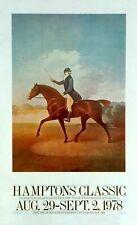 Hampton Classic Horse Show Poster 1978 Paul Davis ICONIC
