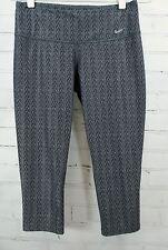 NIKE Dri-Fit Capri Legging Running/Fitness Pants Gray Printed Women's M 485685