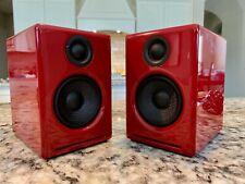 Audioengine A2+ Premium Powered Wireless Desktop Speakers - Pair (Red)