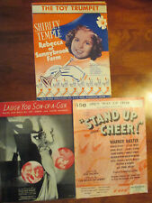 Shirley Temple Movie Sheet Music from 3 of her Movies. Very Good Condition