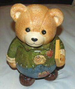 "Vintage CKAO Ceramic 14"" Patches Teddy Bear Cookie Jar"