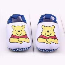 Newborn Baby Kids Boys Crib Shoes Cartoon Mickey Soft Prewalker Slip On Slippers