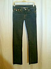 Women's TRUE RELIGION BILLY flap pockets stretch blue jeans size 27 great co