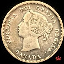 1883H Canada 5 cents OBV5 - VG - Lot#1523P