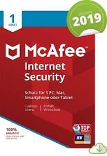 McAfee Internet Security 1 PC 2019 VOLLVERSION Antivirus 2018 Deutsche Key
