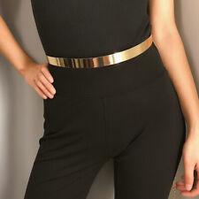 Adjustable Ladies  Metal Waist Belt  Shiny Pearls Rhinestone High Waist Chain UK