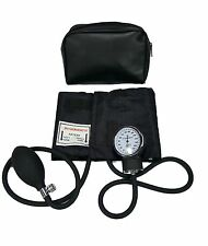LINE2design Aneroid Adult ARM Blood Pressure Cuff With Case - Black FDA Approved