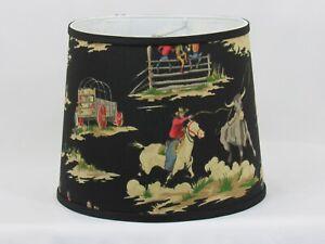 """Albert Estate LTD, Vintage Western Cowboy Shade, 12"""" Washer Fitter"""