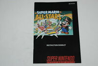 Super Mario All-Stars Super Nintendo SNES Video Game Manual Only