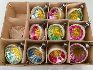 1 Karton alter Weihnachtsschmuck Reflexkugeln Kugeln 1099/21