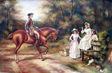 Heywood Hardy  - A Meeting By The Stile  Replica Oil Painting - 36x24