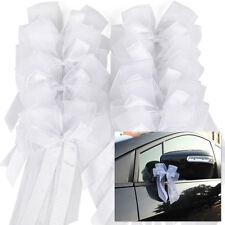 10 Pcs Pew Bows Wedding Car Decorations Reception Bridal Shower Ribbon Bouquets