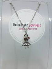 Robot Girl small Pendant And Necklace Womens Jewellery