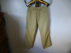 PATAGONIA Hemp Blend 5 Pocket Relaxed Straight Tan Casual Pants 34 X 32