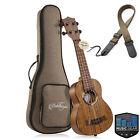 """21"""", 23"""" Walnut Ukulele Professional Uke Hawaiian Guitar w Padded Gig Bag, Strap"""