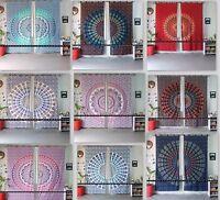 Indian Mandala Ombre Window Curtains Cotton Drape Balcony Room Decor Curtain Set