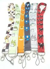 6 Assorted Totoro No Face Kiki's Delivery Service Jiji Chain LANYARD Set #37