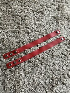 Latex Rubber Biceps Straps Red Size Adjustable For 3 Lengths