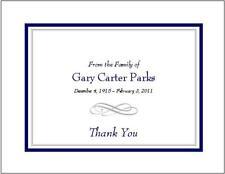 12 Sympathy Personalized Thank You Cards ~ Flourish