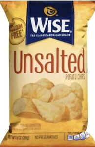 Wise Unsalted Potato Chips 9 Oz