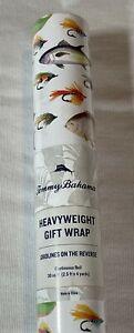 Tommy Bahama Heavyweight Gift Wrap Fish Fishing Lure Bass Salmon 30 square feet